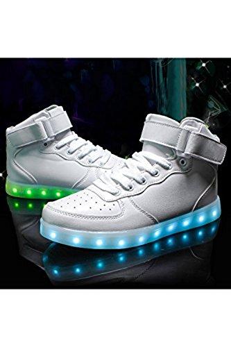 Light luces deportes JUNGLEST® zapatillas hombre calzado para zapati Presente techo pequeña USB Shoes intermitentes carga de toalla 7 c15 color de de LED wqxIRE8Z