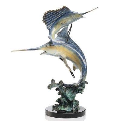 Keys Double Marlin and Sailfish Figurine