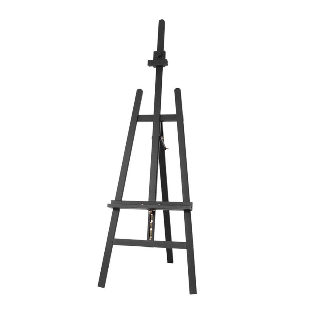 YY 頑丈な木の芸術のイーゼル、絵画およびスケッチの芸術家のための調節可能で永続的なスタジオの床のイーゼル - 黒   B07RC1TGXM