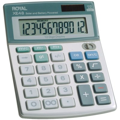 - Royal 29306S Compact Desktop Solar Calculator