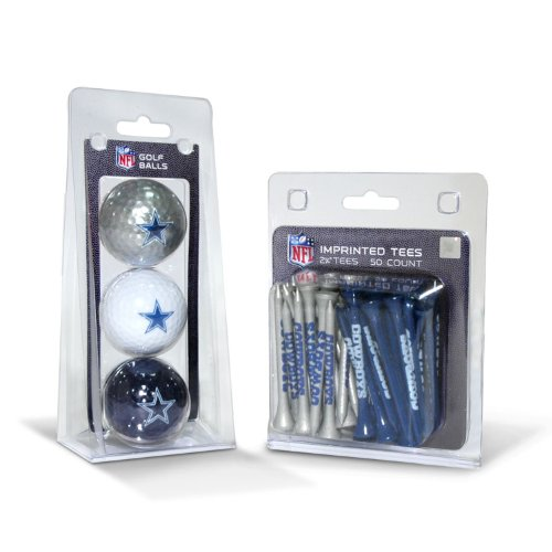 Cowboys Golf - NFL Dallas Cowboys 3 Golf Balls And 50 Golf Tees