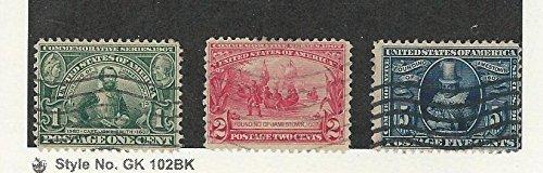 United States, Postage Stamp, 328-330 Used, 1907 Jamestown Colony