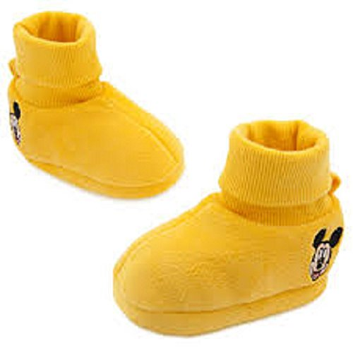 Mickey Mouse Costume Shoes (Mickey Mouse Bootie Slippers for Baby Size 18-24 Months)