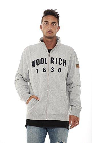 grey Uomo Melange Felpa xxl Wofel0990 Woolrich tTwpq5