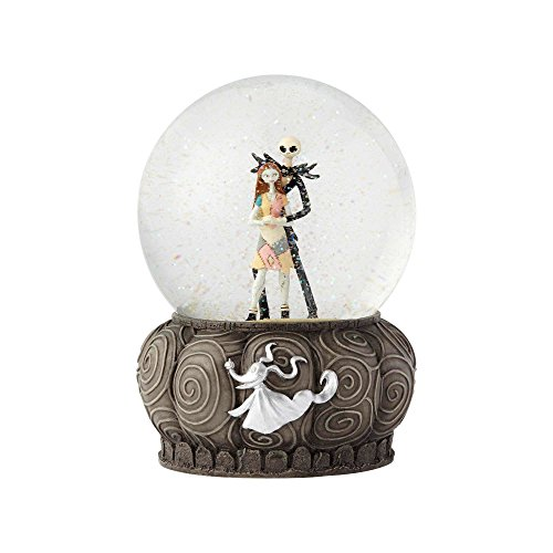 (Department56 4060078 Disney Enesco Nightmare Beforechristmas Jack and Sally Collectible Water Globe)