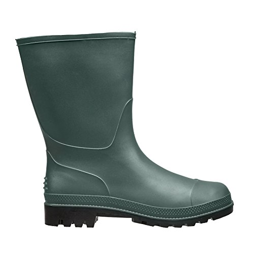 Briers Traditional Short PVC Boots, Green, Size 4/37