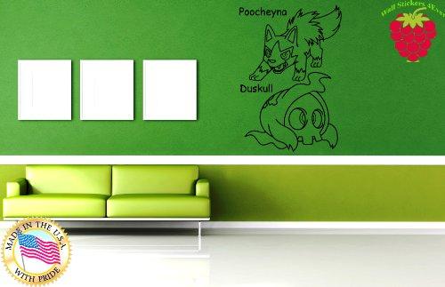 Wall Stickers Vinyl Decal Nursery Pikachu Japanese Manga Anime Pokemons ig1109