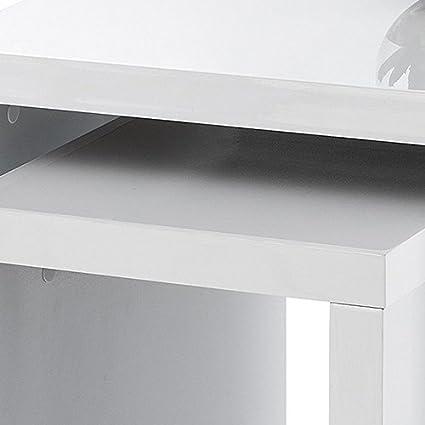 Wood Black High Gloss Julian Bowen Metro Nest of Tables