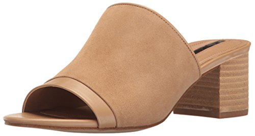 Tahari Womens Daisie Open Toe Casual Leather Mules
