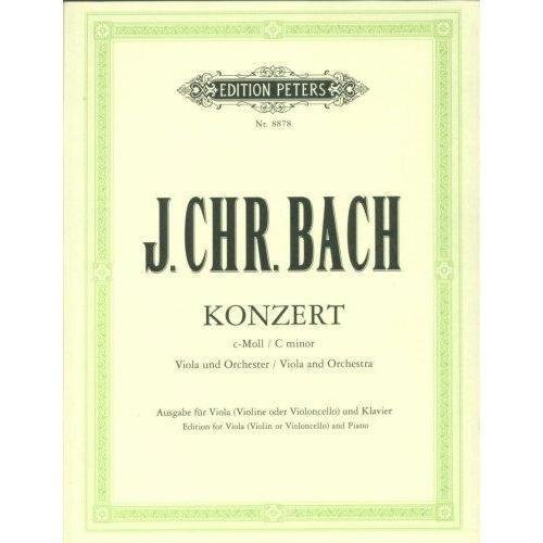 Bach, Johann Christian - Concerto in c minor - Viola and Piano - edited by Henri Casadesus - Peters