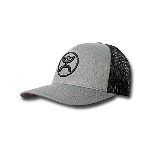 official photos a25fc 3d692 Hooey Cody OHL 6-Panel Trucker Gray Black Mesh Hat