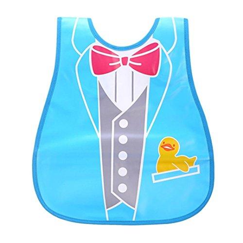 Baby Girls Boys Bibs, VEKDONE Cute Kid Infant Bibs Baby Soft Cartoon Bib Waterproof Saliva Dripping Bibs (F)