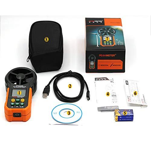 Anemómetro Digital Portátil LCD De Mano Viento Medidor Velocidad Aire Volumen Medición Metros Luz: Amazon.es: Hogar