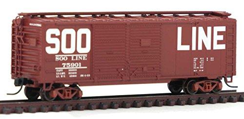 uble-Door Boxcar Soo Line (Boxcar Red/Billboard) #75901 (40' Double Door Box Car)