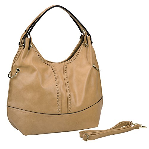 Slouchy Purse Top Handle Collection Double Tan Handbag Crossbody Large Hobo MG gRpfqw