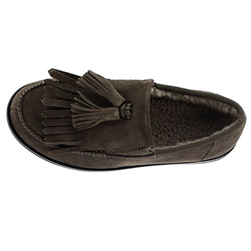 FitFlop Womens Tassel Fringe Loafer Suede Shoes Bungee Cord