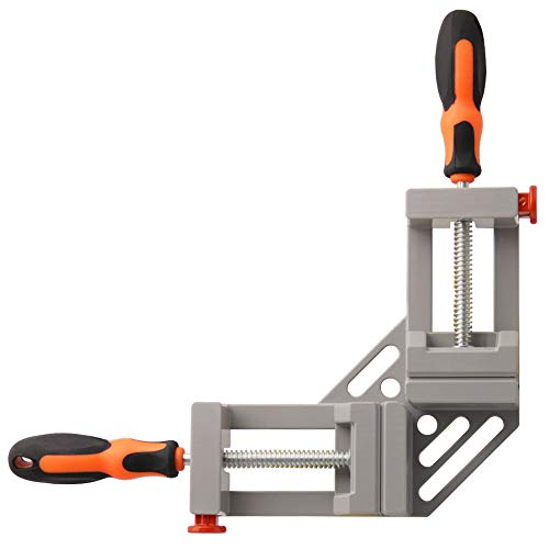 SAND MINE Double Handle Corner Clamp, 90 Degree Quick Release Corner Clamp for Welding, Wood-working, Photo Framing(Grey)