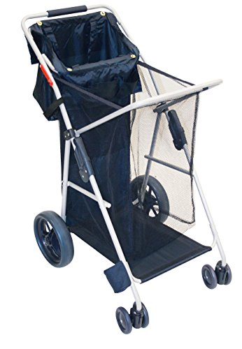 (RIO Gear Wonder Wheeler Big Wheel Folding Beach or Sports Cart with Tote Bag)