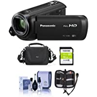 Panasonic HC-V380K Full HD Camcorder with Wi-Fi, - Bundle with Video Bag, 16GB Class 10 SDHC Card, Cleaning Kit, Memory Wallet