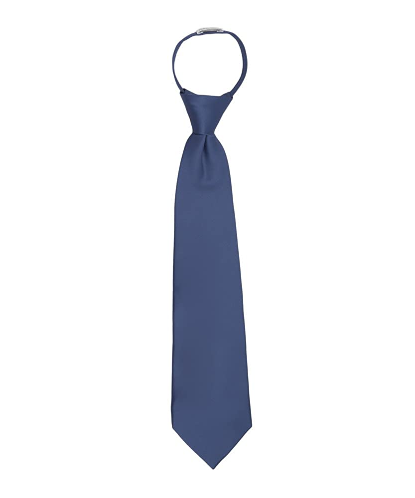 Jacob Alexander Boys 11 Pretied Ready Made Solid Color Zipper Tie