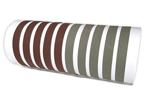 1/2 X 10 Inch Fine 800 Grit / Ultra Fine 5000 Grit Knife Sharpener Sanding Belts, 10 Pack Assortment (For Work Sharp WSCMB Combo Knife Sharpener) - Red Combo Belt