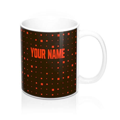 Custom Cleveland Browns Themed Coffee Mug - Football Fans Men Women Gift Personalized Cup Merchandise Future Super Bowl Champs Mugs Mens Apparel Womens (15oz Coffee Mug)