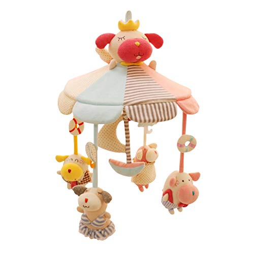 SHILOH Baby Crib Decoration Lullabies Plush Musical Mobile (Puppies' Holiday)