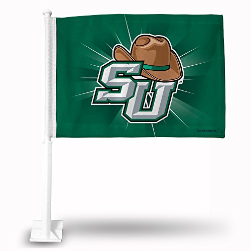 (NCAA Stetson Hatters Car Flag, Green, with White Pole)