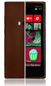 Skinomi TechSkin - Nokia Lumia 920 Protector de pantalla + carcasa protectora para madera oscura + garantía de por vida