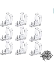 Sandalas 100PCS LED Rope Light Clips Holder Led Wall Mount Mounting Clips with 200 Pieces Screws 1/2 Inches Clear Light Clips