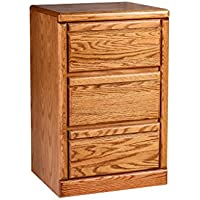 Forest Designs Bullnose Oak Three Drawer Nightstand: 19W x 30H x 18D 19w x 30h x 18d Golden Oak