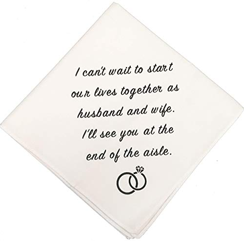 Groom Wedding Handkerchief by Wedding Tokens- Groom Gift