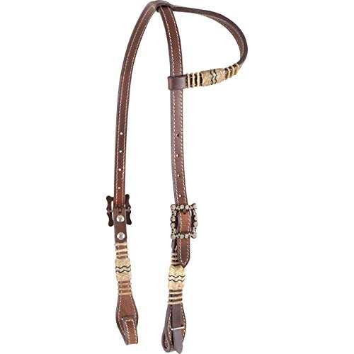 Leather Futurity Knot Show Bridle Turquoise Rawhide Bosal Horsehair Mecate Reins
