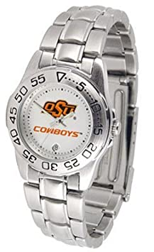 Oklahoma State University Ladies Stainless Steel Wristwatch by SunTime