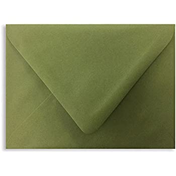 amazon com olive a7 euro curved flap invitation envelopes pack
