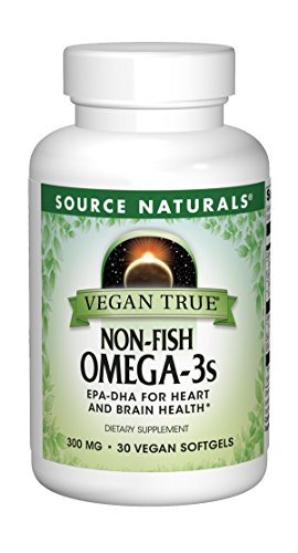 Source Naturals Vegan True Non-Fish Omega-3s EPA-DHA for Heart and Brain Health, (30 Capsules) by Source Naturals