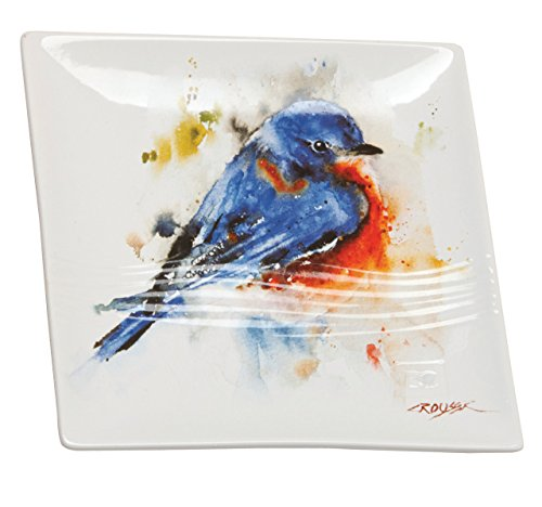 Demdaco B5050118 Bluebird Snack Plate, Multicolored