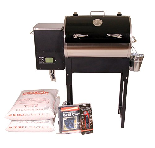 REC TEC Grills Trailblazer | RT-340 | Bundle | Wifi Enabled | Portable Wood Pellet Grill | Built in Meat Probes | Stainless Steel | 15lb Hopper | 2 Year Warranty | Hotflash Ceramic Ignition System by REC TEC Grills