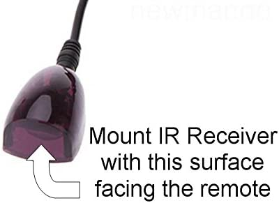 Apple TV Roku Xbox One Inteset IR Remote Control Repeater-Extender-Emitter to Control up to 8 Hidden A//V Devices Like Cable Boxes Nvidia Shield and Others with Our Powerful IR Receiver