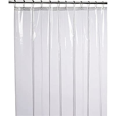 liba mildew resistant anti bacterial peva 8g shower curtain liner 72x72 clear non toxic eco. Black Bedroom Furniture Sets. Home Design Ideas