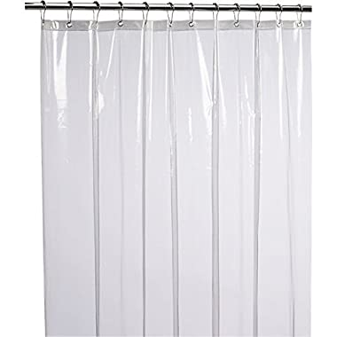 LiBa Mildew Resistant Anti-Bacterial PEVA Shower Curtain Liner, 72x72 Clear - Non Toxic, No Odor