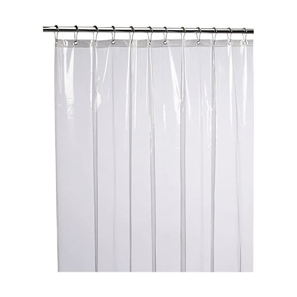 Shower Curtain Liner 72x72 Frosted PEVA Antimicrobial PVC Free Mildew Resistant