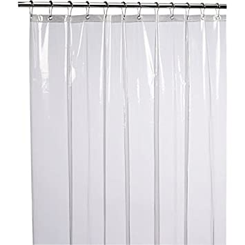 Shower Curtains are vinyl shower curtains safe : Amazon.com: LiBa Mildew Resistant Anti-Bacterial PEVA 8G Shower ...