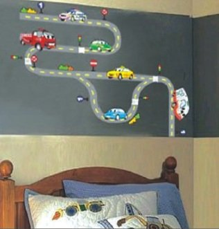 CAR ROAD TRACK Art Decal Removable Vinyl Wall Sticker For Boys And Childrenu0027s  Bedrooms Part 80