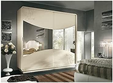 Armario puertas correderas Espejo Lacado Beige como fotos madera ...