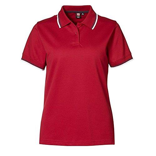 Hellblau Damen Kontrast Piqué Id Poloshirt Identity 0565