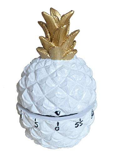(GIFTME 5 White Pineapple Kitchen Timer Cooking Timer Pineapple Tabletop Kitchen Home Decor)
