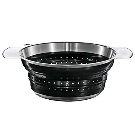 Rosle 16124 10-Inch Collapsible Colander, Black Rosle USA