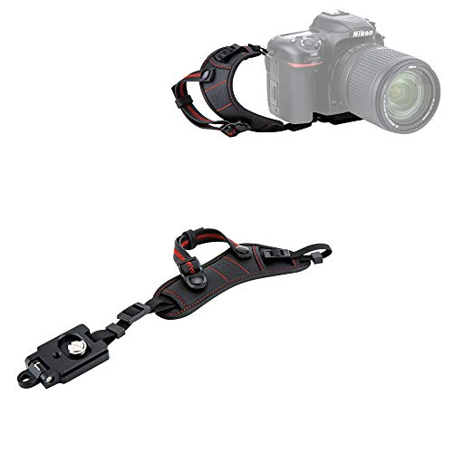 JJC Deluxe DSLR Camera Hand Strap with Quick Release Plate for Nikon D850 D750 D500 D7500 D7200 D7100 D3500 D3400 D3300 D3200 D5600 D5500 D5300 D5200 D810 D800 D600 D610 D5 D4s D4 D3s D3 & More DSLR (Nikon D600 Camera Strap)