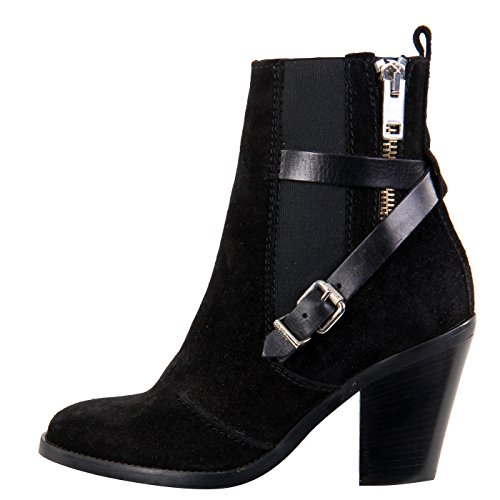 DIESEL Damen Leder Stiefelette Schuhe D-KINLEY Black G01200 Größe 38